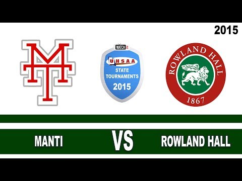 2A Manti vs Rowland Hall 2015 Utah State Softball Tournament Field 1