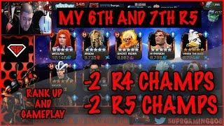 MY 6TH AND 7TH RANK 5 CHAMP'S PLUS 2 RANK 4 CHAMP'S (MASSIVE RANK UP VID)/MCOC