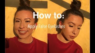 How To Put On False Eyelashes | Beginner Friendly | Acpeezy