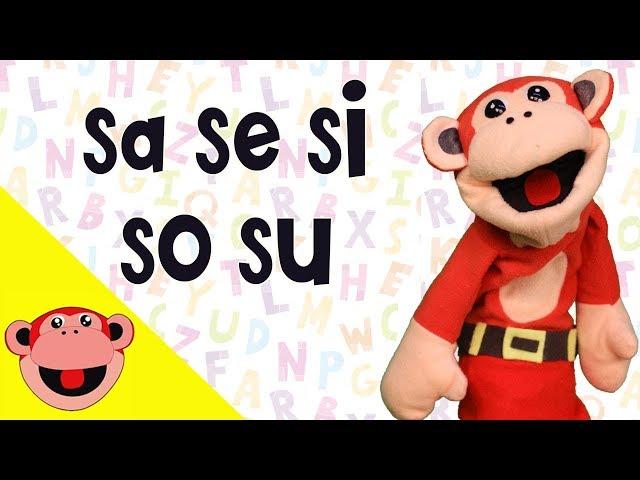 Silabas sa se si so su    El Mono Silabo   Videos Infantiles   Educación para Niños en Español
