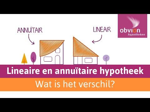 een annuitaire of lineaire hypotheekvorm wat is het verschil