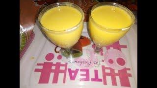 Mango Milkshake Recipe (AAM er Shorbot ) (tasty quick and easy recipe)
