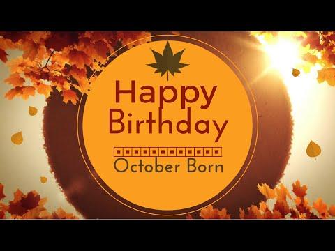 October Born Birthday Wishes | Gorgeous Happy Birthday Video