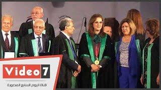 الدكتورة سعاد الصباح بجامعة القاهرة: