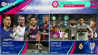 FIFA 14 MOD FIFA 19 NEW UPDATE TRANSFERS WINTER 2019 BEST GRAPHICS NEW FACE & HAIR + NEW SQUAD 1GB