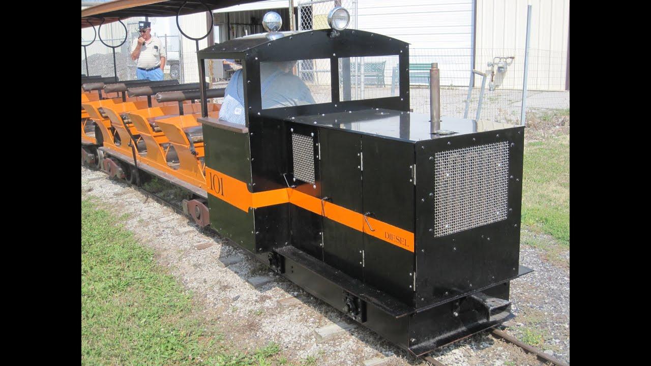 "Backyard Train live steam backyard train 15 "" gauge diesel locomotive findlay - youtube"