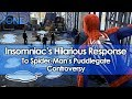 Insomniac's Hilarious Response to Spider-Man's Puddlegate Controversy