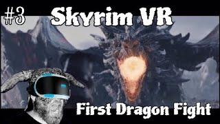 Skyrim VR #3 First Dragon Fight