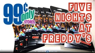 FIVE NIGHTS AT FREDDYS trading cards at the 99 cents only stores NOW!!! FNAF Freddy Fazbear
