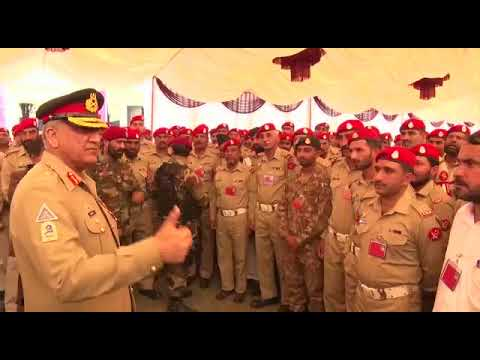 COAS visits Frontier Corps KPK (South) and Defence Services Guard
