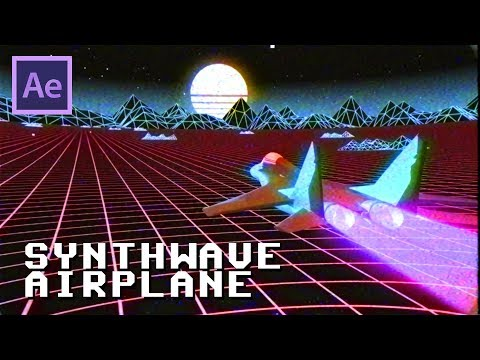 Synthwave Airplane Video Game - Speed Edit