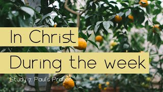 In Christ During the Week # 7