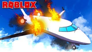 SURVIVRE A AVION CRASH IN ROBLOX!