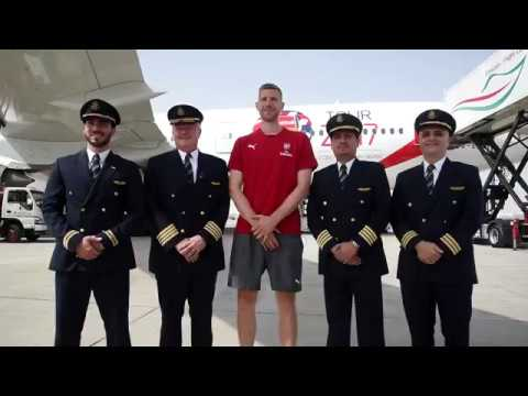 When Pilots happen to be Football Fans  | Emirates Airline
