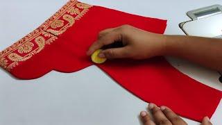 Blouse Lace Design   Blouse Back Nack Design Cutting Stitching   Three Piece Princess Cut Blouse