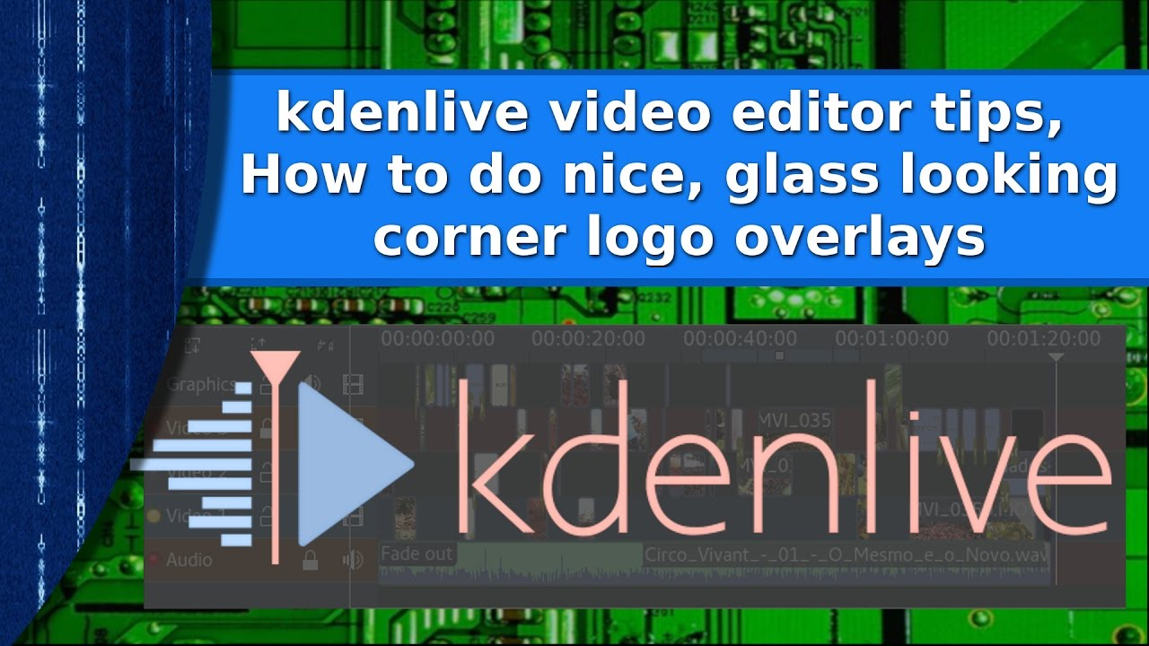 Video Editing - How to create and overlay a transparent logo on your videos  in kdenlive