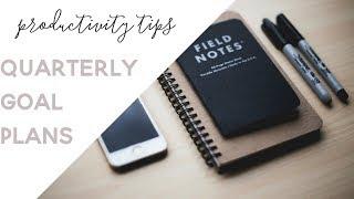 How to Plan Quarterly Goals
