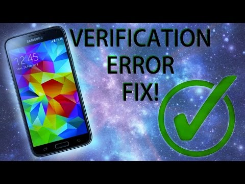 HOW TO FIX VERIFICATION ERROR ON ANDROID DEVICES