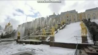 Смотреть видео Новости . Мороз и солнце , снег и фонтаны , Санкт Петербург . онлайн