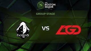 Faceless vs LGD, Game 1, Group C - The Boston Major