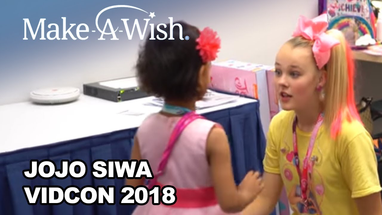 8774144f01cc8 JoJo Siwa with Make-A-Wish at VidCon 2018! | Make-A-Wish® - YouTube ...