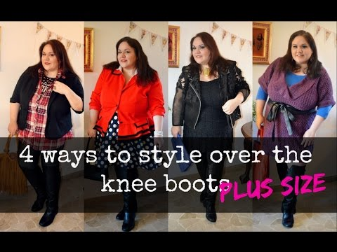 how to wear knee high boots 4 ways (plus size) - YouTube