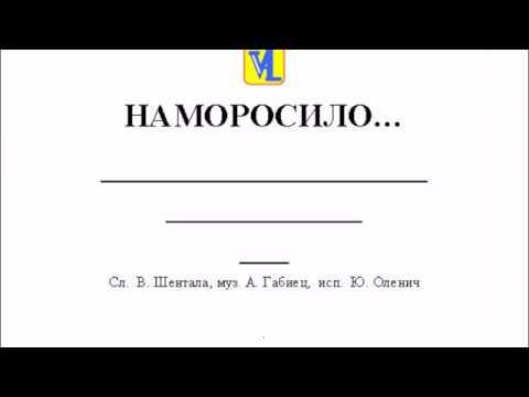 Смотреть видео Наморосило, сл  В  Шентала, муз  А  Габиец, исп   Ю  Оленич