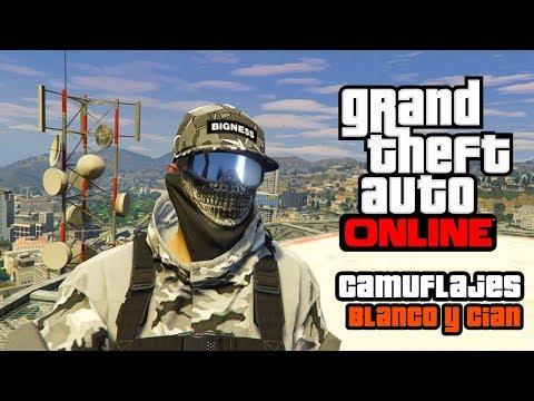 GTA Online| Conjuntos RNG Camuflaje Blanco & Cian | Juanluis01