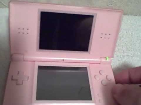 pink nintendo ds lite used tested usg 001 with pink carrying case used tested youtube. Black Bedroom Furniture Sets. Home Design Ideas