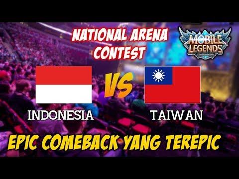 Epic Comeback Bisa Terjadi Karena Ada nya Usaha Indonesia vs Taiwan National Arena Contest 02112017