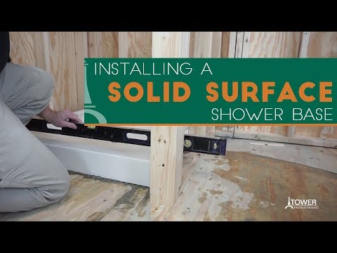 How To Install a Shower Pan - Meridian Solid Surface