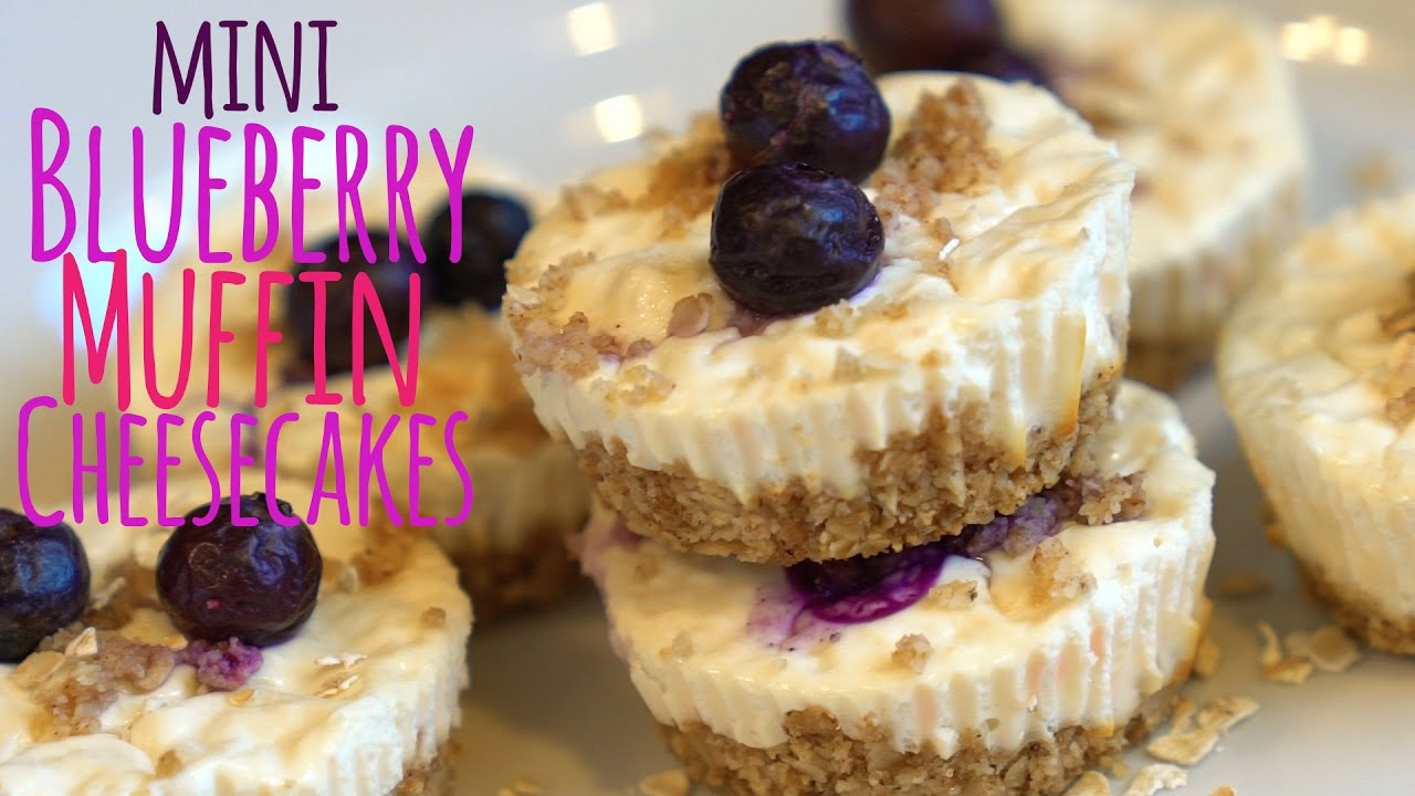 High Protein Mini Blueberry Muffin Cheesecakes | Tiger Fitness