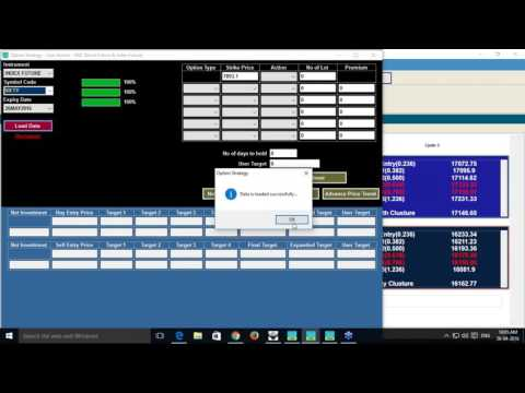 Live session on option strategy software