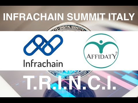 Infrachain Summit Italy -  The full speech of Affidaty Team