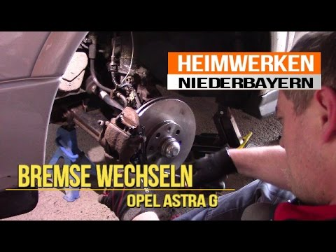 bremse wechseln einbauen opel astra g youtube. Black Bedroom Furniture Sets. Home Design Ideas