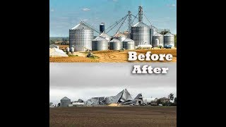 Minnesota storm damage, before and after,  tornadoes Minnesota, severe weather Minnesota