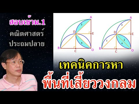 เฉลยแบบฝึกหัดข้อสอบคณิตศาสตร์เข้าม.1 เรื่อง พื้นที่ โจทย์ยาก ข้อ 11