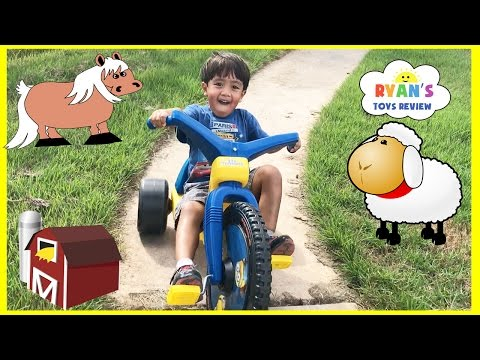 Thumbnail: Kids Family Fun Trip to the Farm Animals Giant Slide Inflatable Bounce Children Activities Kids Toys