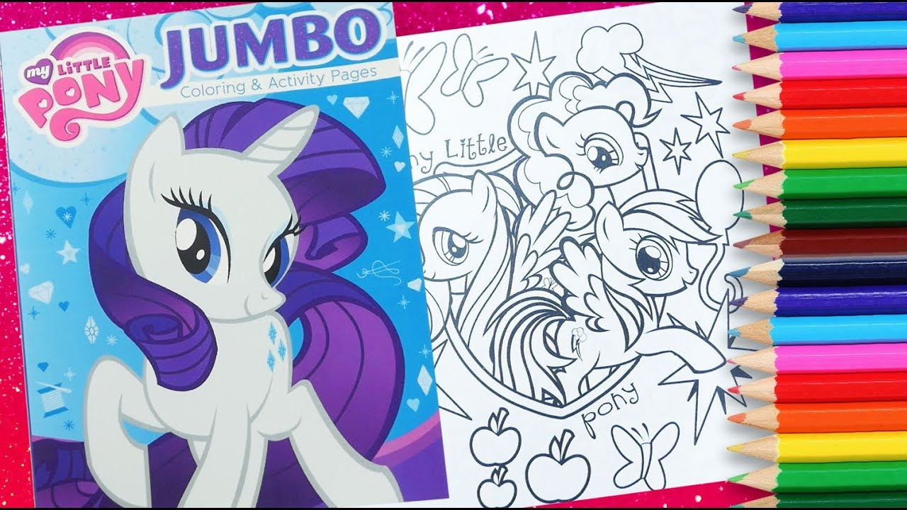 - My Little Pony Activity Book MLP Coloring Book Jumbo Colouring