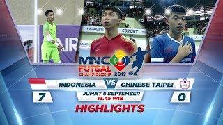 INDONESIA LUMAT HABIS LAWANNYA!! INDONESIA (7-0) CHINESE TAIPEI - MNC FUTSAL CHAMPIONSHIP 2019