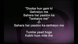Tumhe yaad hoga - Satta Bazaar with female voice - Full Karaoke