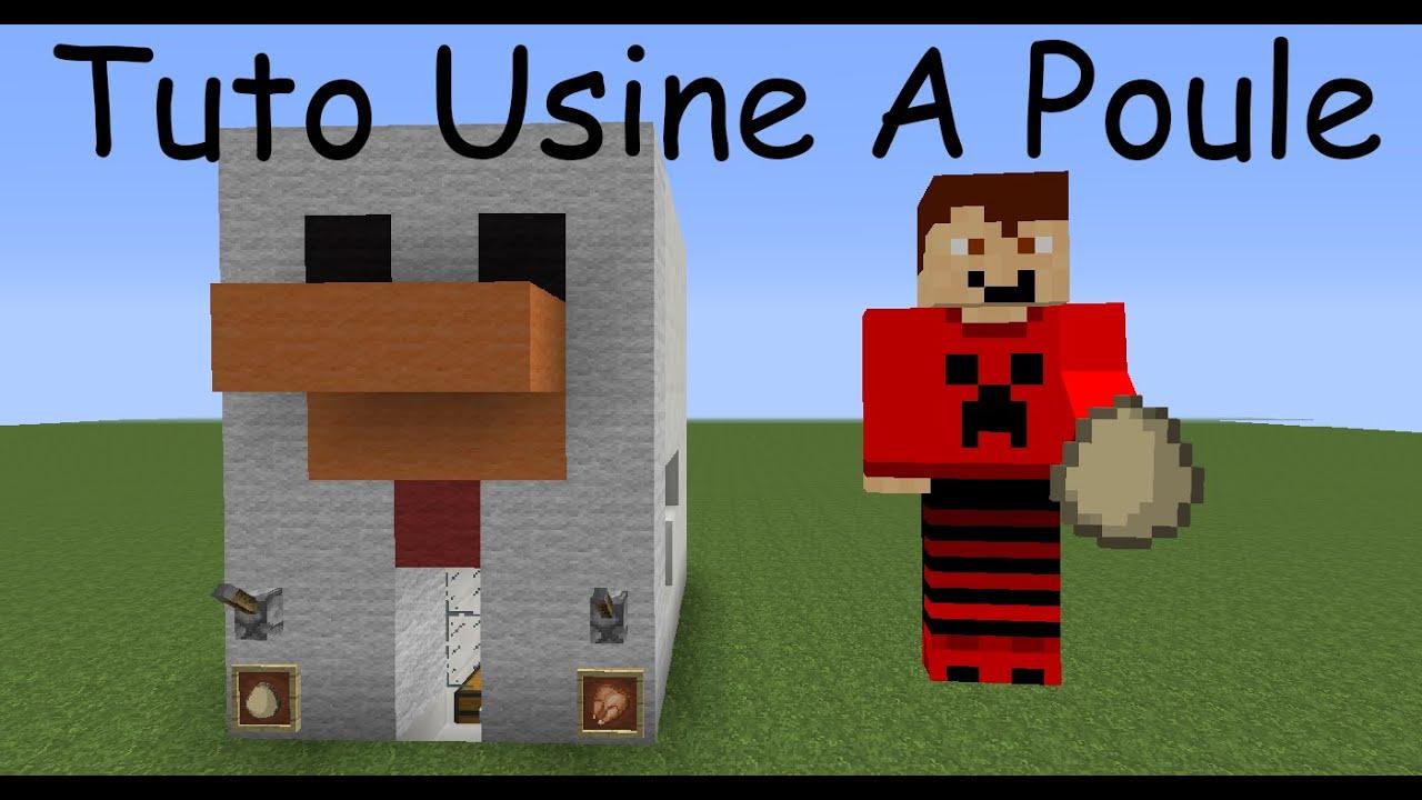 Minecraft 1 8 3 tuto usine a poule facile a faire youtube - Poule minecraft ...