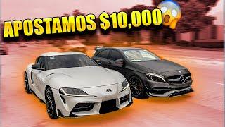 TOYOTA SUPRA VS MERCEDES A45 AMG CON APUESTA    ALFREDO VALENZUELA