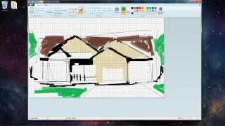 Рисуем особняк в Paint/ Making A Crib In Paint