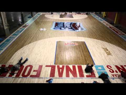 2014 NCAA Womenu0027s Final Four Making Of The Court By Connor Sports