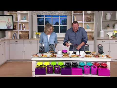 Yes Chef! Set Of 2 Hot Pocket Sandwich Makers On QVC