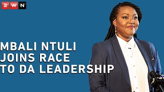 Former DA youth leader Mbali Ntuli has officially announced the decision to throw her hat in the ring for leader of the Democratic Alliance. Here's why she thinks she's suitable for the role.   #MbaliNtuli #DemocraticAlliance #DA