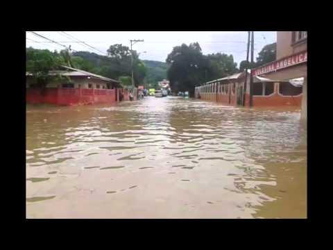 Lluvias provocan alarma en Tela, Atlántida