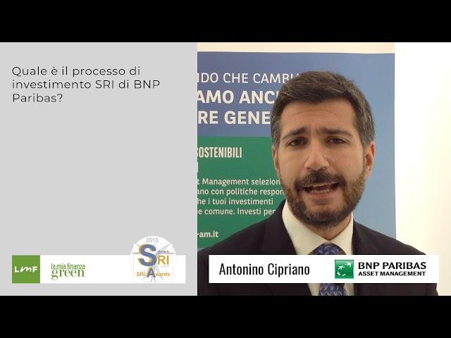 Antonino Cipriano (BNP Paribas) - Salone SRI 2018