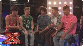 Kingsland get SWEATY - TalkTalk Backstage Unseen - The X Factor 2013